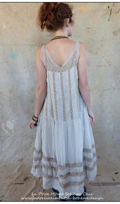 Amaia Robe avec fines bretelles & dentelle fait main