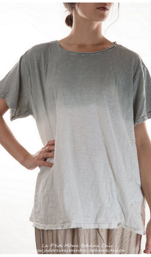 Cotton Watercolor Tee in a New Boyfriend Cut
