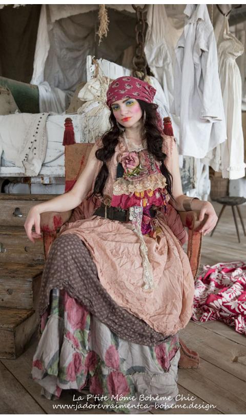 Pissarro....Jupe à Fleurs Flamenco....Bohème