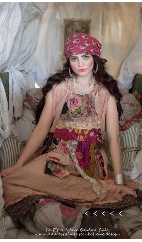 La Bohème...Pissarro....à Fleurs....en Soie-Rayon