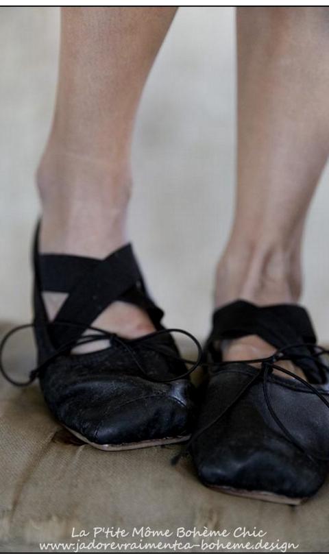 Ballet Mazzy-Toe en 100% Cuir