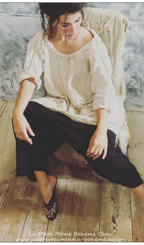 Antoinette Painter Smock.....reversible Devant-Derrière....Coton naturel