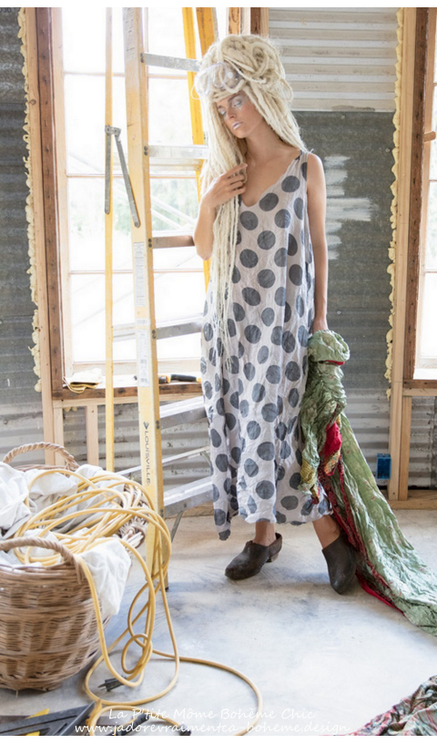 Coming Up Soon-Layla...Linen Dot Dress