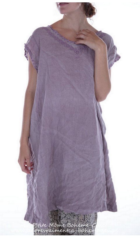 New Orlena Dress in Beautiful French Linen Embroidered  Sleeveless Dress