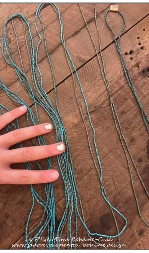 Collier Afghane en Perle Turquoise Travail Artisanal