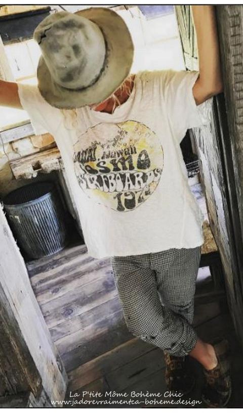 Cosmos Surf tee-Shirt en Coupe Boyfriend