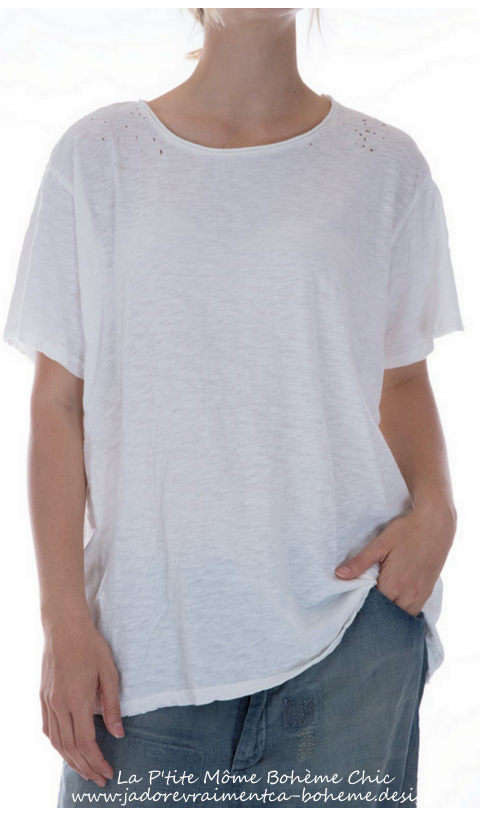 Cotton Jersey New Boyfriend Cut Tee