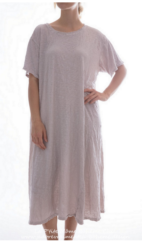 New Boyfriend Robe Tee en Lilac-Water