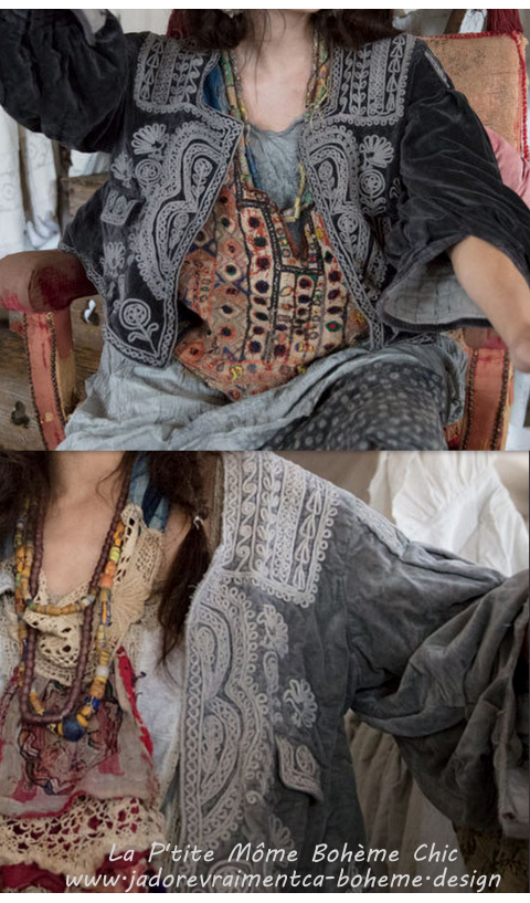 Marishka Velvet Ukrainian Inspired Embroidery Jacket