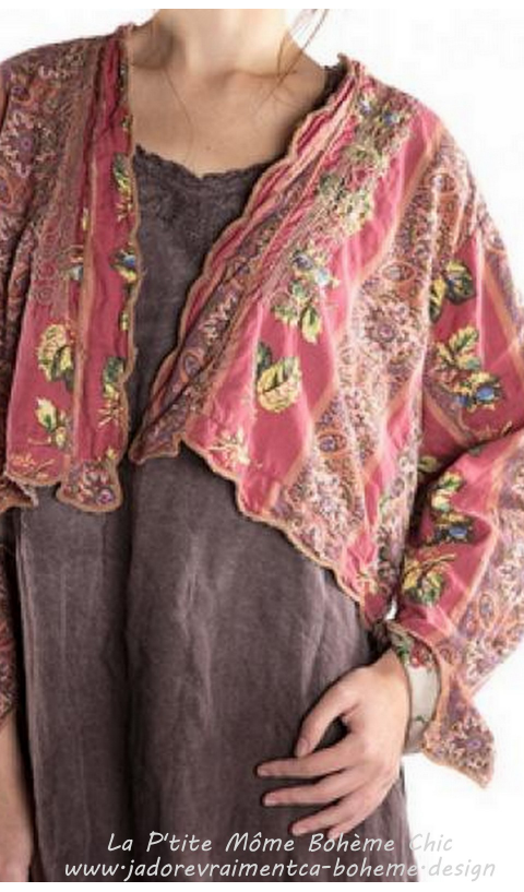 Naeem....Cropped Jacket Floral Ottoman Embroidery