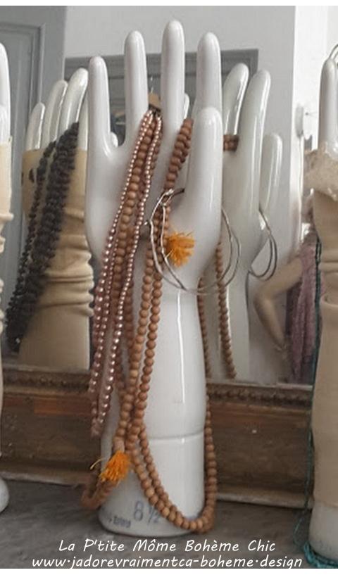 P'tit Collier en Perles de Bois