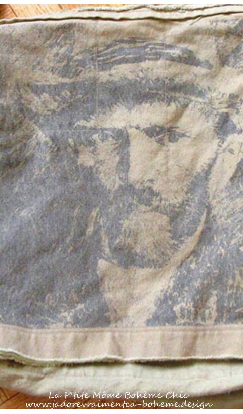 Sac en Canvas Imprimé Van Gogh...Bandoulière Longue