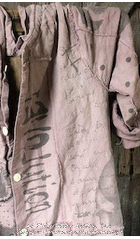 Wells Painters Smock Manteau En Lin Ceinture & Poches