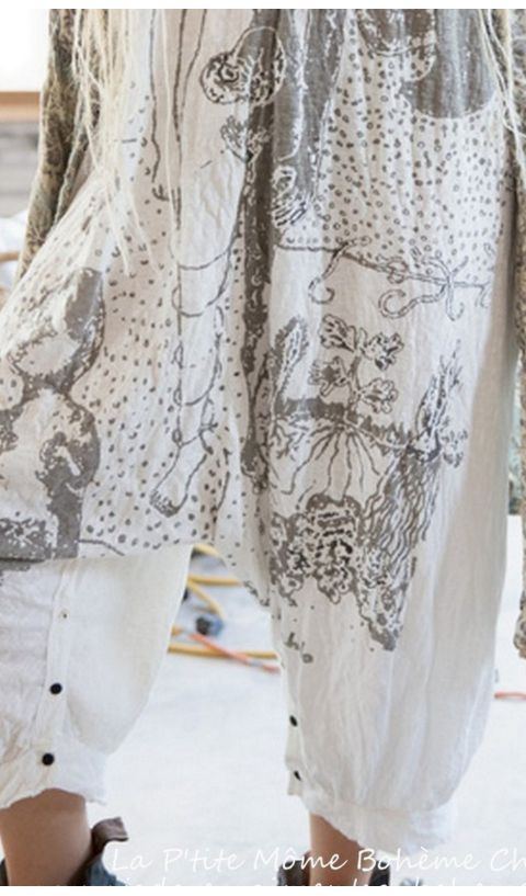 Frida Tears Combi en Coton Jersey Imprimé