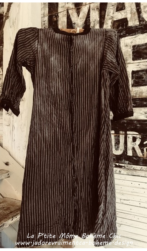Sorrell...Robe en Coton délavé, broderie comme on les aimes