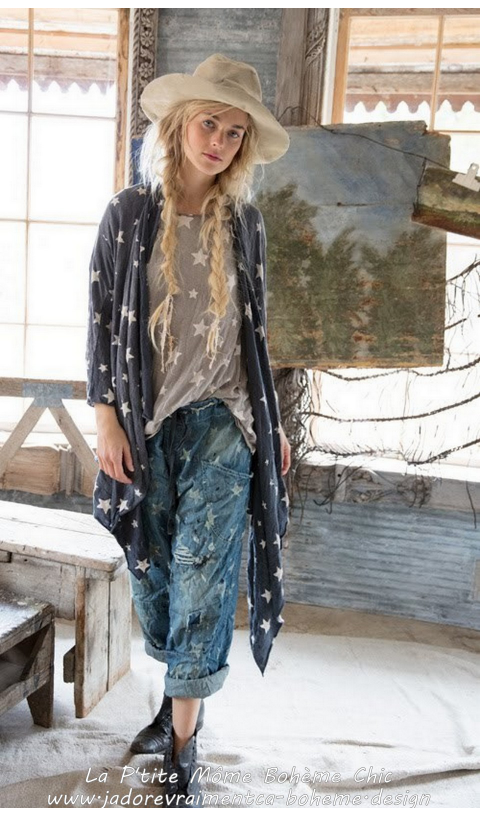 Galaxy Karesa Cardigan In Stargazer with Pockets and Raw Edges,