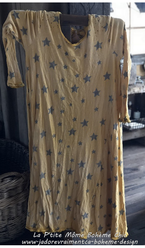 Dylan T Dress Galaxy in Los Angeles Cotton Jersey
