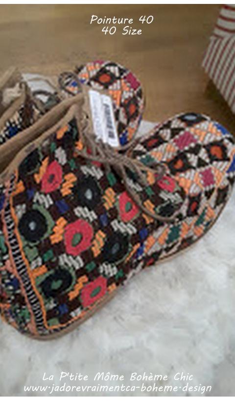 Ethnique Boots Bojangles Majmau en 38 Travail Artisanal