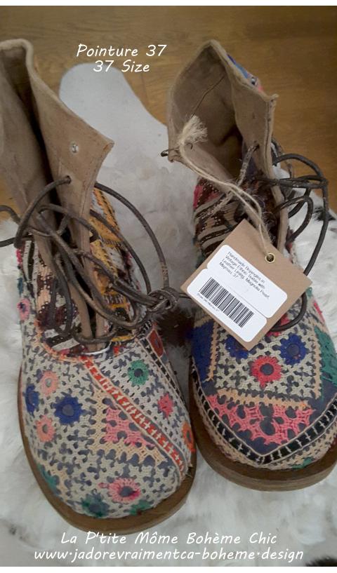 ETHNiC BOJANGLES Majmau in 37 (antique textiles - every pair unique)