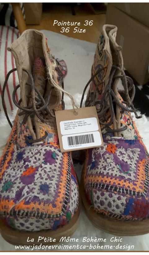 ETHNiC BOJANGLES Majmau in 36 (antique textiles - every pair unique)